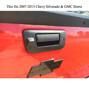 Chevrolet Silverado and GMC Sierra tailgate handle backup camera installation guide & oembacupcam.com