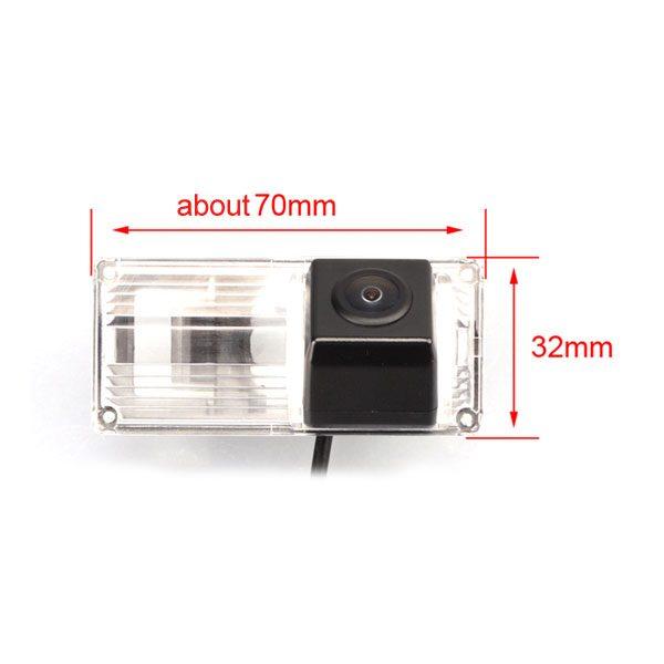 Toyota Land Cruiser backup camera dimension & oembackupcam.com
