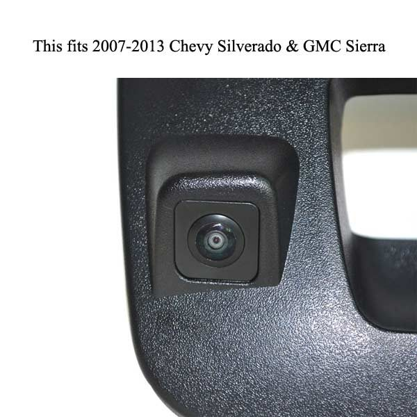 rear view reverse camera for Chevrolet Silverado and GMC Sierra & oembacupcam.com