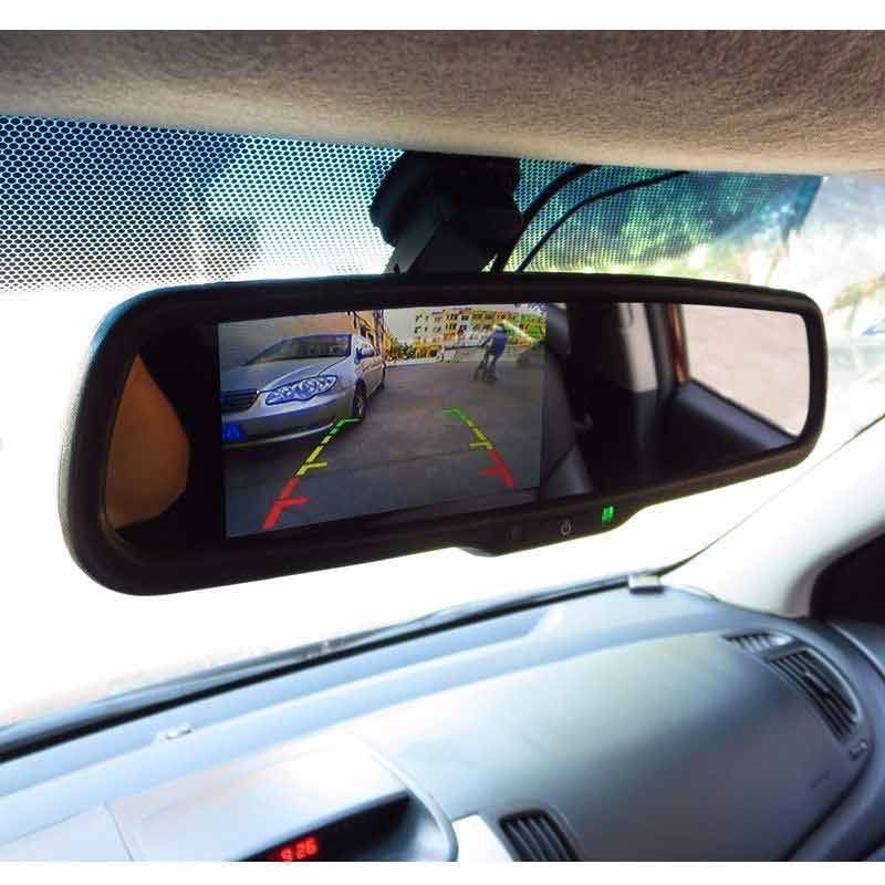 replacement rear view mirror monitor customer installation & oembackupcam.com