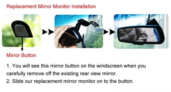 replacement rear view mirror monitor installation guide & oembackupcam.com