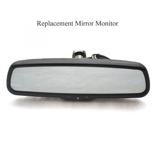 replacement rear view mirror monitor with light sensor & oembackupcam.com