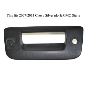 tailgate handle backup camera for Chevrolet Silverado and GMC Sierra & oembackupcam.com