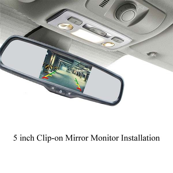5 inch clip-on rear view mirror monitor installation & oembackupcam.com