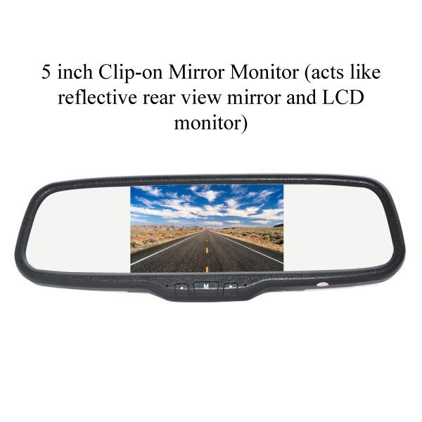 5 inch clip-on rear view mirror monitor & oembackupcam.com