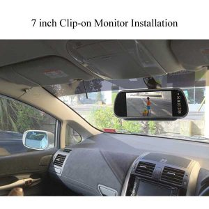 7 inch clip-on mirror monitor customer installation & oembackupcam.com