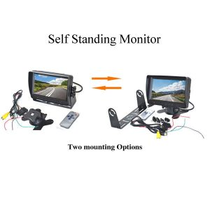 7 inch self standing monitor with 2 mounting options & oembackupcam.com