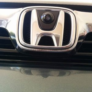Front View LOGO Camera installation for Honda Odyssey Accord Civic Crosstour & oembackupcam.com