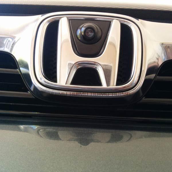 Front View LOGO Camera installation for Honda Odyssey Accord Civic Crosstour & oembackupcam.com