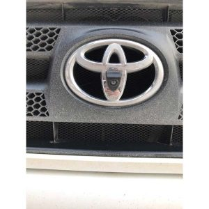 Toyota Front View LOGO Camera installation 3 & oembackupcam.com