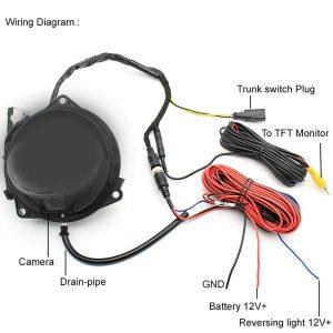 Volkswagen OEM Emblem Pop Open Backup Camera wiring & oembackupcam.com