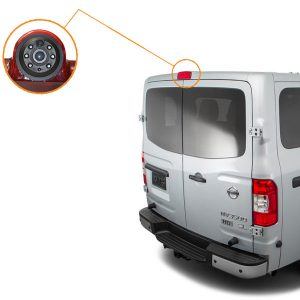 Nissan NV third brake light backup camera installation guide & oembackupcam.com