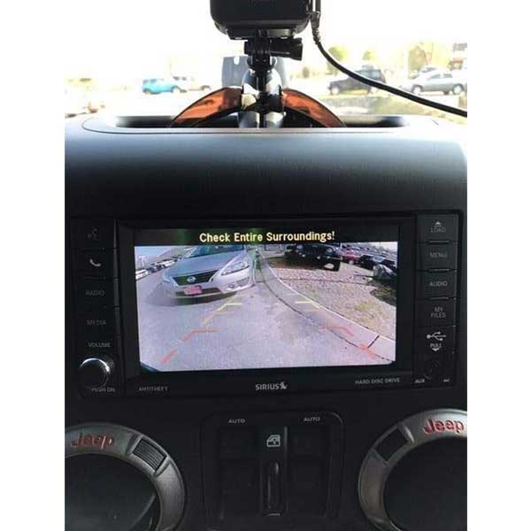 Vardsafe VS662 Jeep Wrangler backup camera for factory and aftermarket headunit