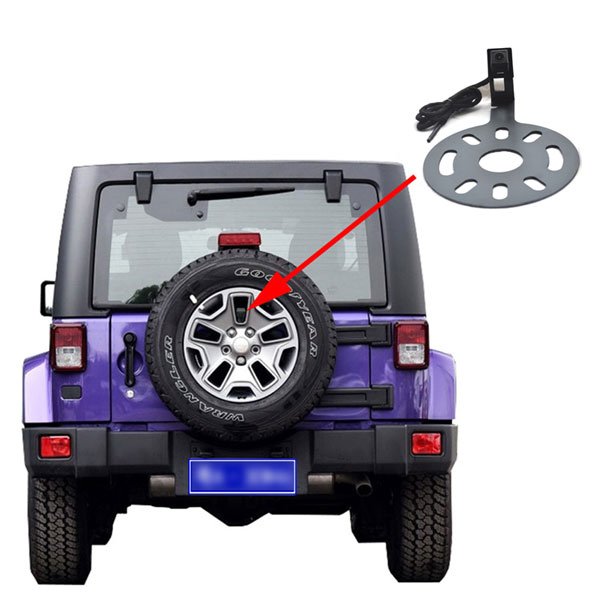 Vardsafe VS662 jeep wrangler backup camera